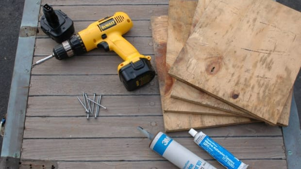 Your damage control locker should be stocked with the right tools to effect rapid repairs, including wood patches, sealant, fasteners and a cordless drill driver.