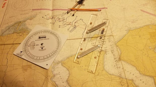 Navigational chart and plotting tools for bathymetric navigation