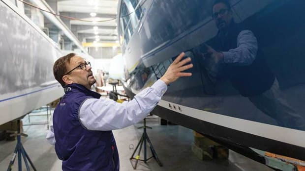 Zurn examines boat