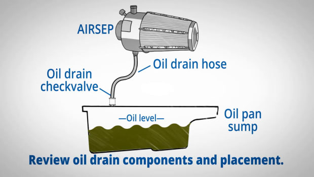 Walker AIRSEP-Service Video 104 -Understanding Airsep Oil Drain System -