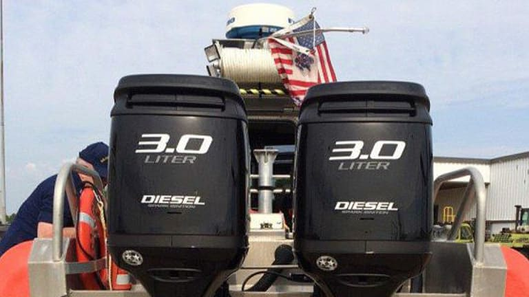 Coast Guard Experiments With Diesel Outboards