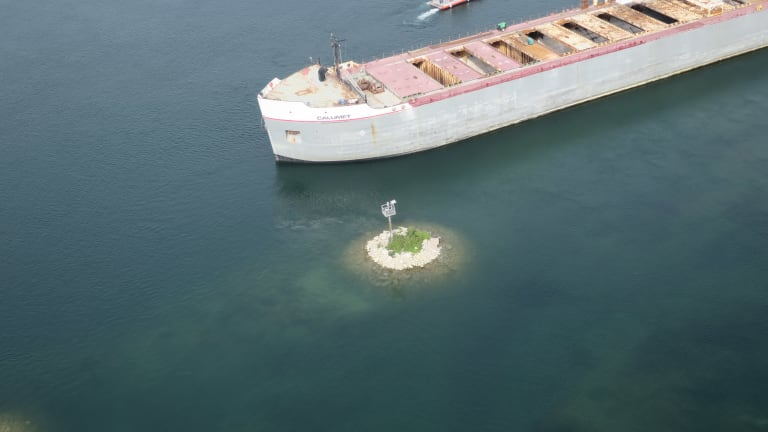 Freighter Runs Aground in Michigan