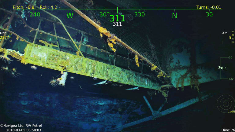 USS Lexington Found in Coral Sea
