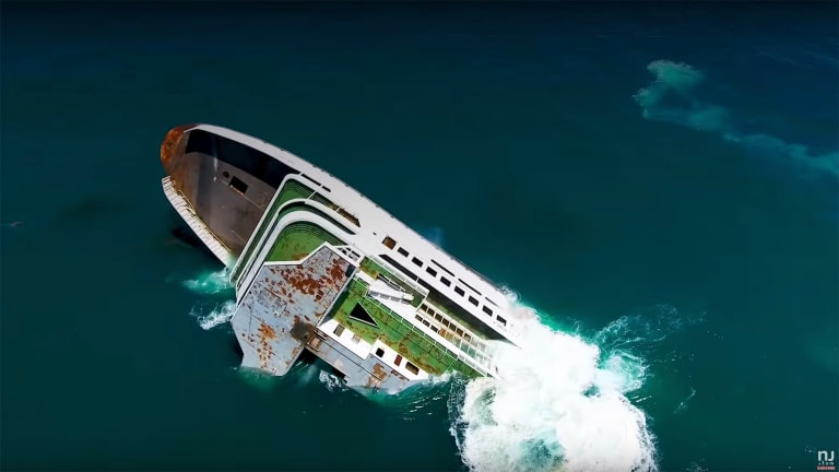 The ferry Twin Capes joins the Del-Jersey-Land Inshore Artificial Reef (Videos)
