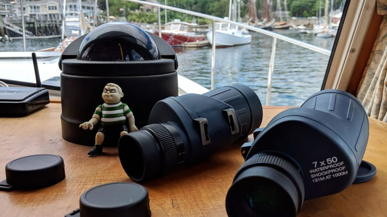 Weems & Plath PRO 7×50 binoculars, customized for monocular vision (PANBO)