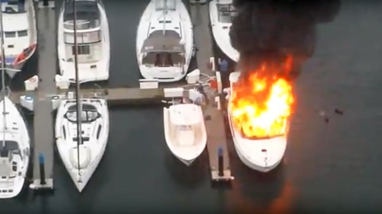 Boat Explodes at Vancouver Marina (Video)