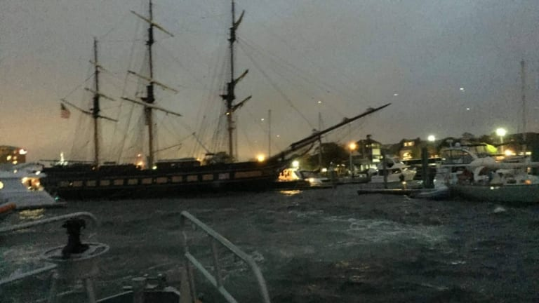 Tall Ship Loses Power, Crashes Newport Docks (Video)