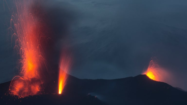 Hazard to Navigation: Volcano Erupts, Chases Boaters (Video)