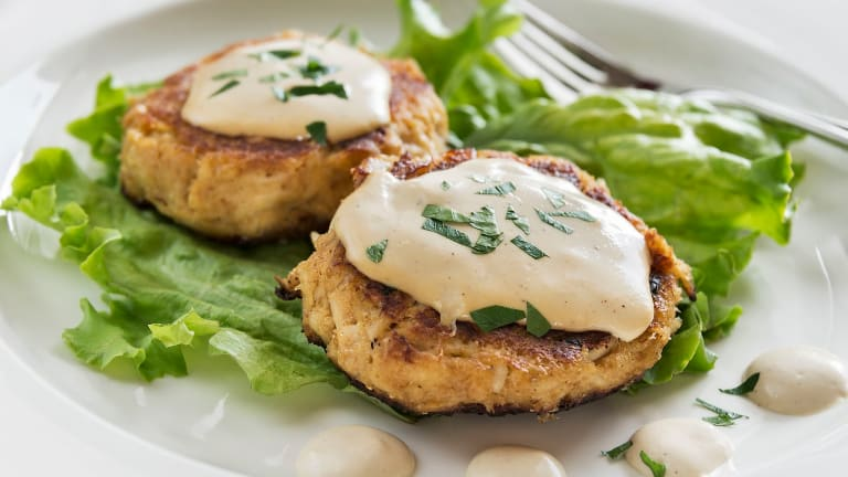 Crab Cakes, Galley-Up Style