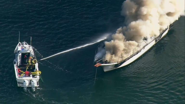 Skipper Saves Dogs and Docks in Boat Blaze (Video)