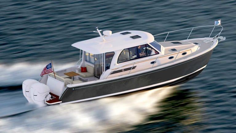 Back Cove 39O Features Hull With 'Trailing Edge Lifting Surface'