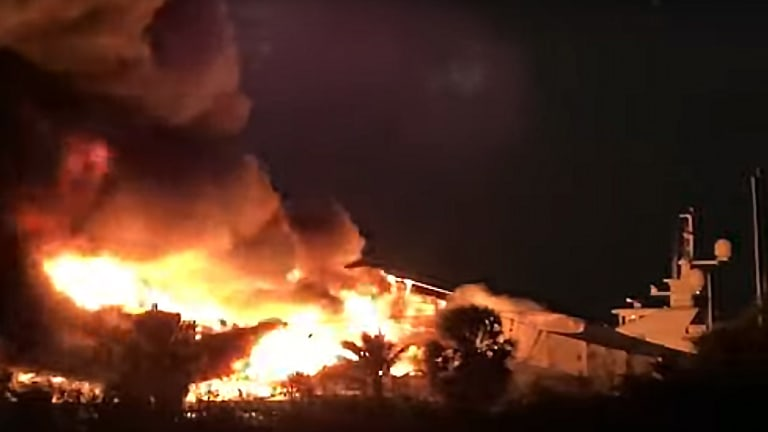 Yachts Worth More Than $20 Million Destroyed in Fort Lauderdale Boatyard Fire (News Video)