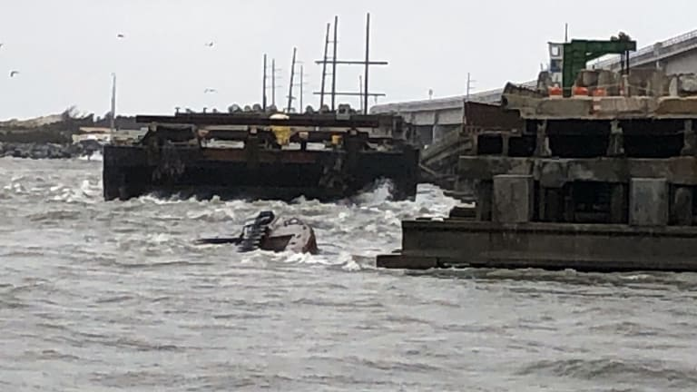 Wrecked Tug Sinks, Releasing Plume of Oil at NC's Oregon Inlet