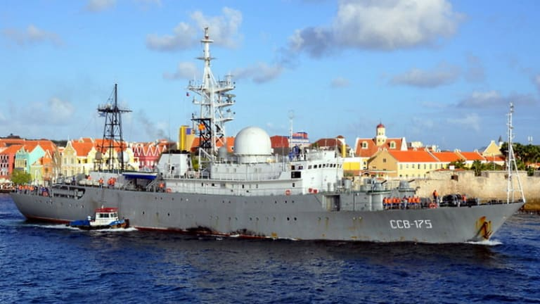 Russian Spy Ship Behaving Badly off Coast of Carolinas, Coast Guard Warns