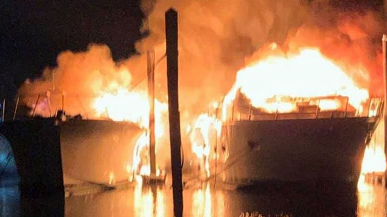 Two Motoryachts Destroyed in New Jersey Marina Fire