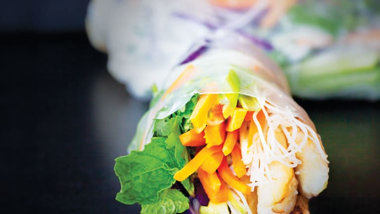 Soft Spring Rolls  With Crab