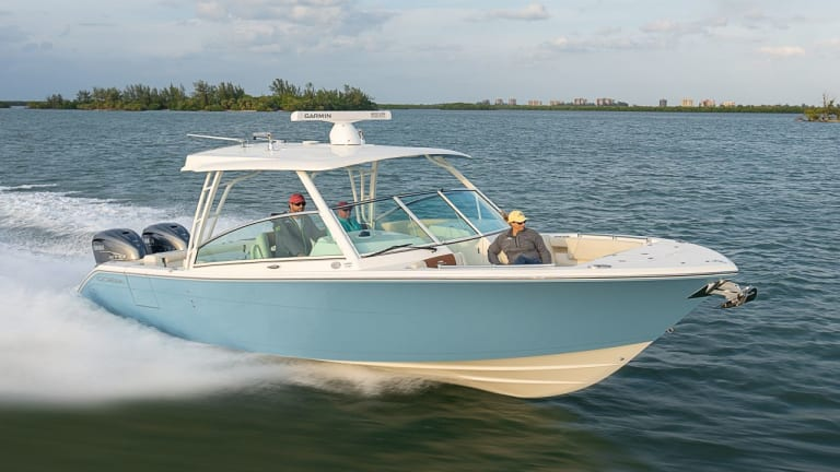 The Cobia 330 dual console