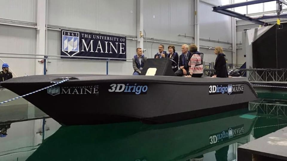 UMaine 'Prints' a 25-Foot Boat, Breaks Records (Time Lapse Video)