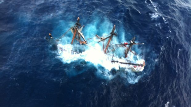 Coast Guard rescues crewmembers aboard HMS Bounty