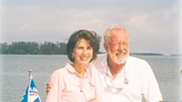 The Authorand her husband Vic doing with they do best, cruising in their Florida Paradise.