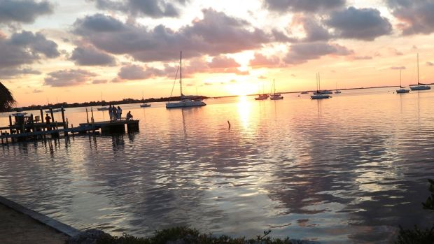 The sunset over Coconut Grove is not to be missed.