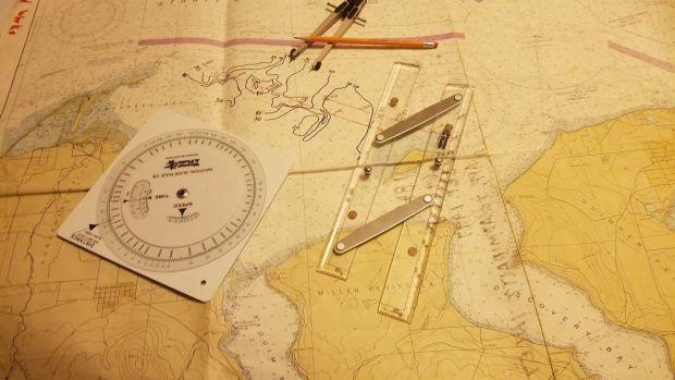 Navigational chart and plotting tools for bathymetric navigation