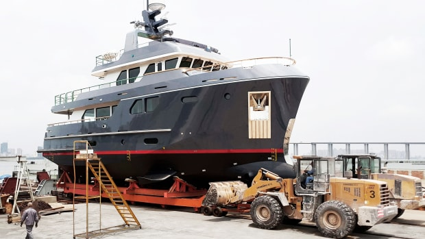 Bering 80 - Steel expedition yacht launch