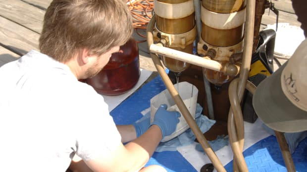 Removing water from tank