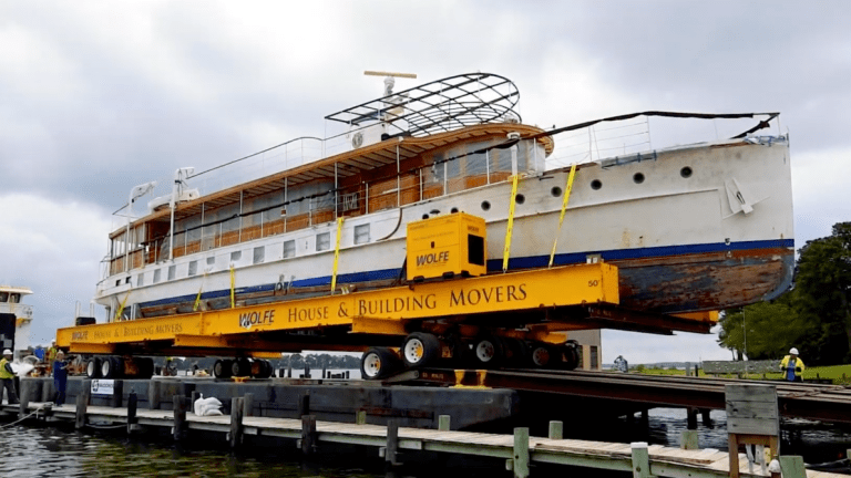 Presidential Yacht Sequoia Docks at Maine Harbor for Restoration (Videos)