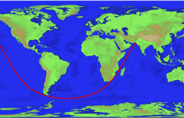 As the Crow Flies: The Longest Navigable Line