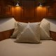 The guest stateroom aboard the Marlow 49 Explorer.