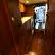 The laundry area just forward of the engine room on the Marlow 49 Explorer.