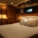 Master stateroom aboard the Marlow 49 Explorer.