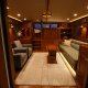 Looking forward to the pilot house, through the Marlow 49 Explorer saloon.