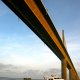 Marlow 49 Explorer under the Tampa Bay Bridge, Tampa, Florida.