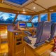 An open helm deck and ergonomic Stidd seats provide great visibility for captain and copilot.