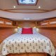 The master stateroom aboard the Sabre 45 Salon Express features a sizable midship berth with great access fro both sides.