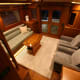 A view of the saloon on the Marlow 49 Explorer.