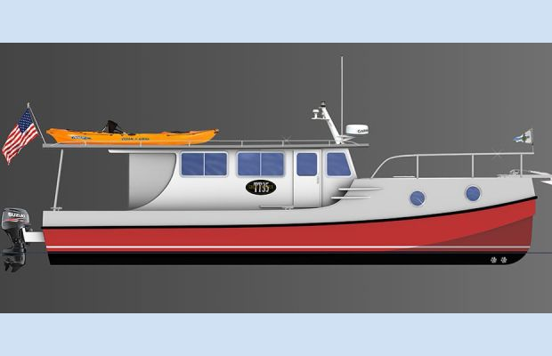 A Trailerable Outboard Boat With a Trawler Look (BLOG)