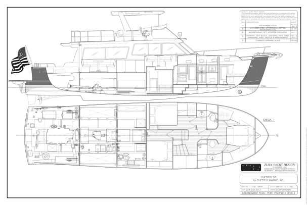 11126 - 050A Arrangement Plan - Port Profile & Deck 1 D
