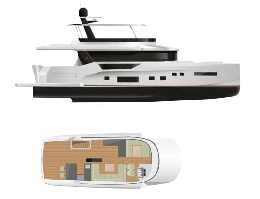 Sirena 68 - Flybridge