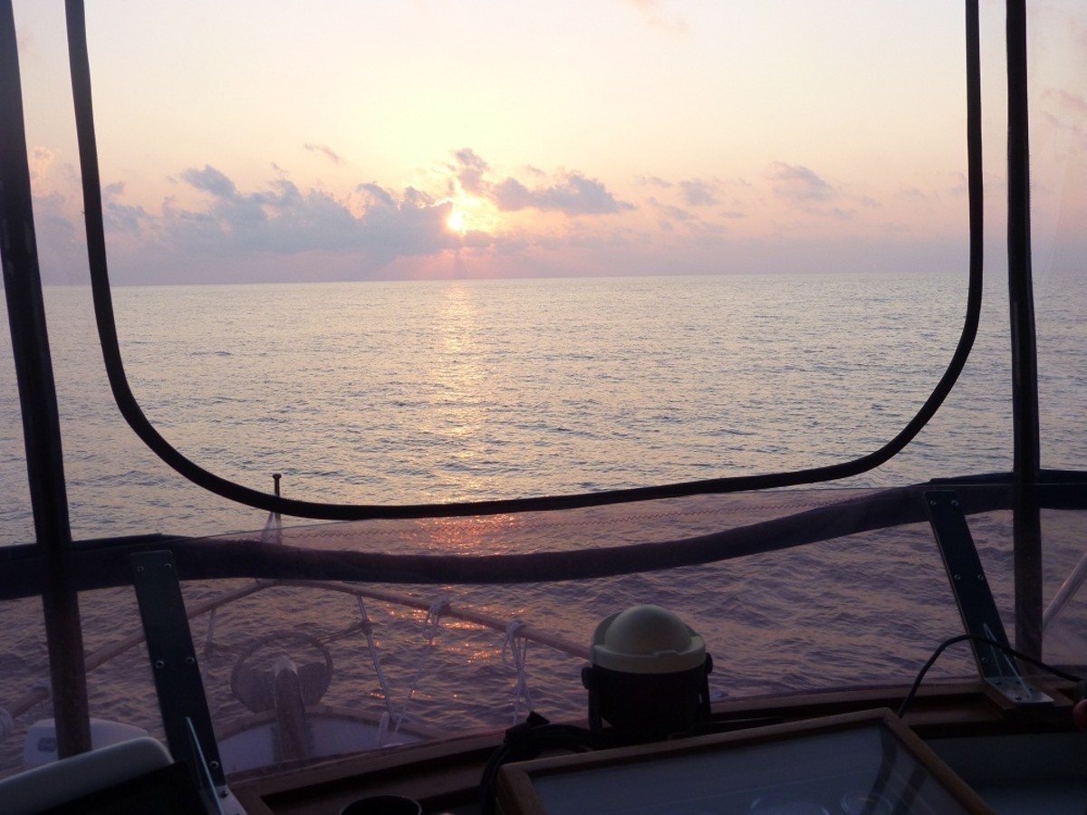 Sunrise crossing the Gulf Stream.