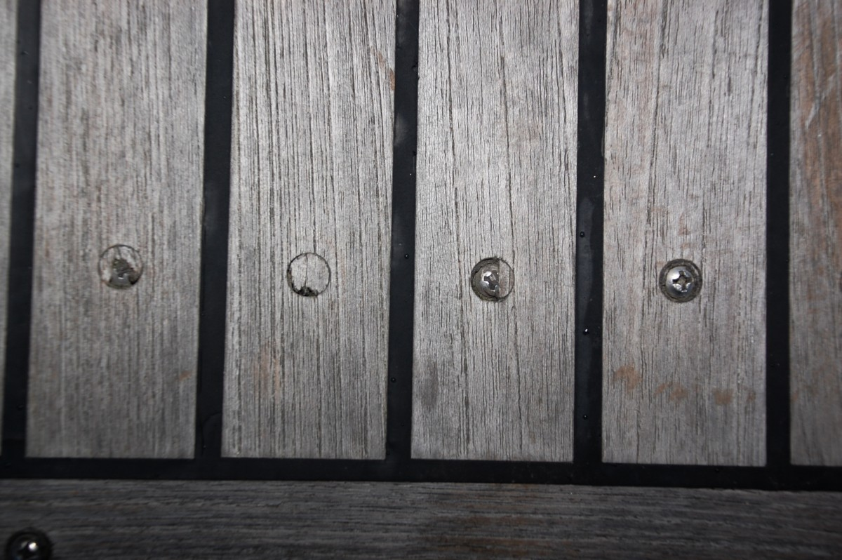 teak deck thin plugs
