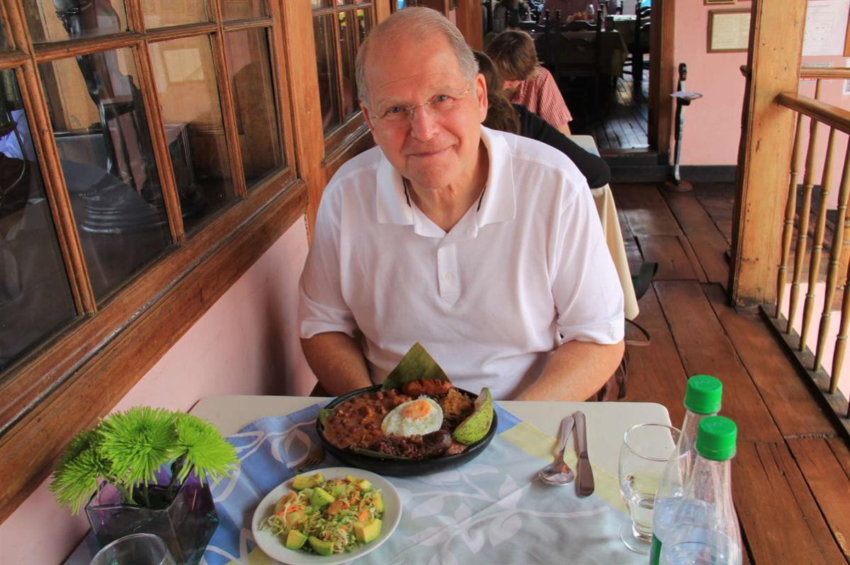 Myself enjoying a delicious lunch in Cartagena.