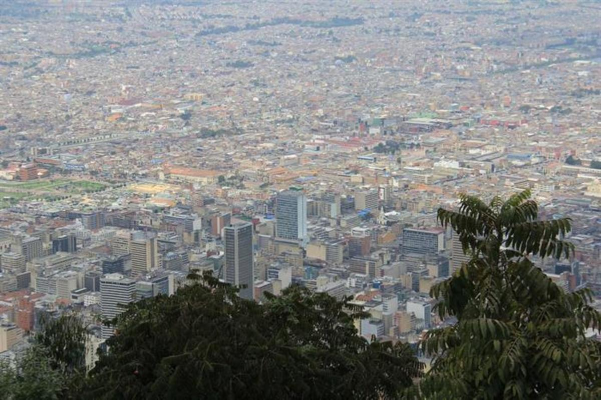 Bogotá as seen from Cerro de Monsarrate.