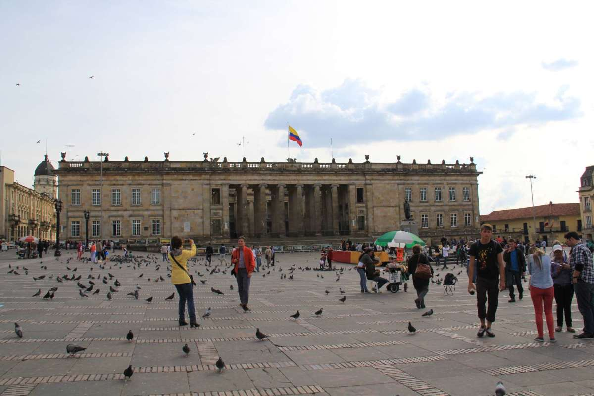 Columbia's capital building in La Plaza de Bolivar.
