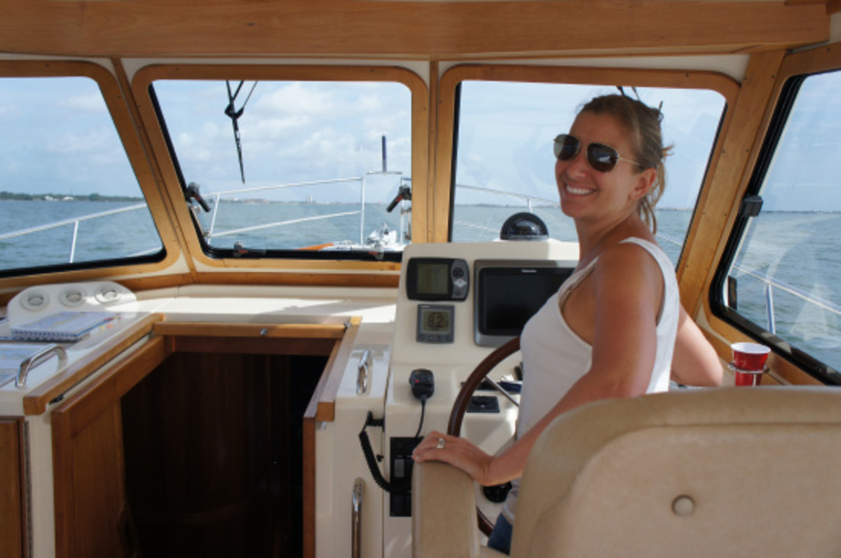 The lovely Amy manning? womanning? ... at the helm.