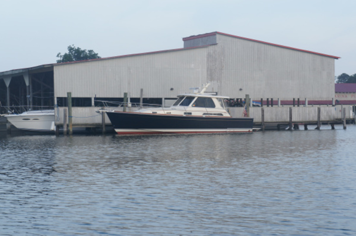 Here we are tied up at Deltaville; owned and operated by PassageMaker contributor Steve Zimmerman.