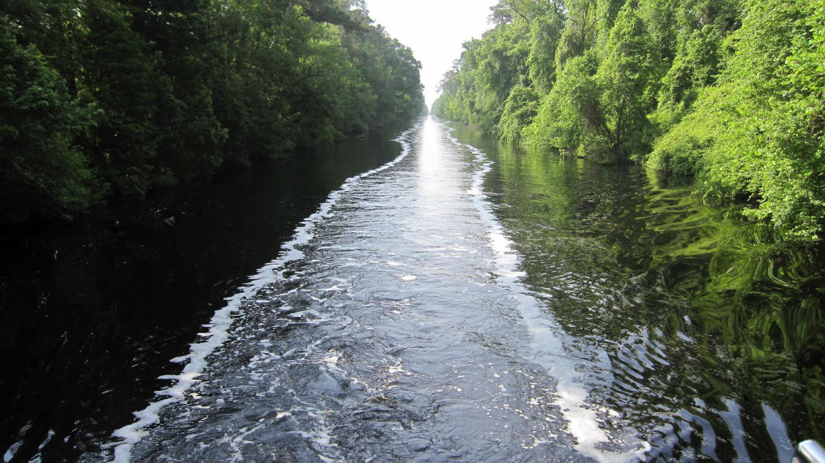 The Dismal Swamp route is the only inshore alternative on the ICW until the Great Bridge Lock is repaired.