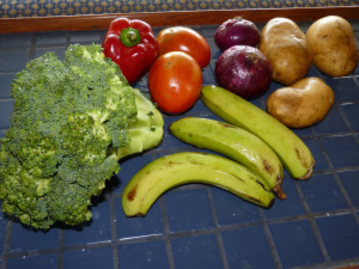 100 pesos worth of produce, about $2.65 USD.